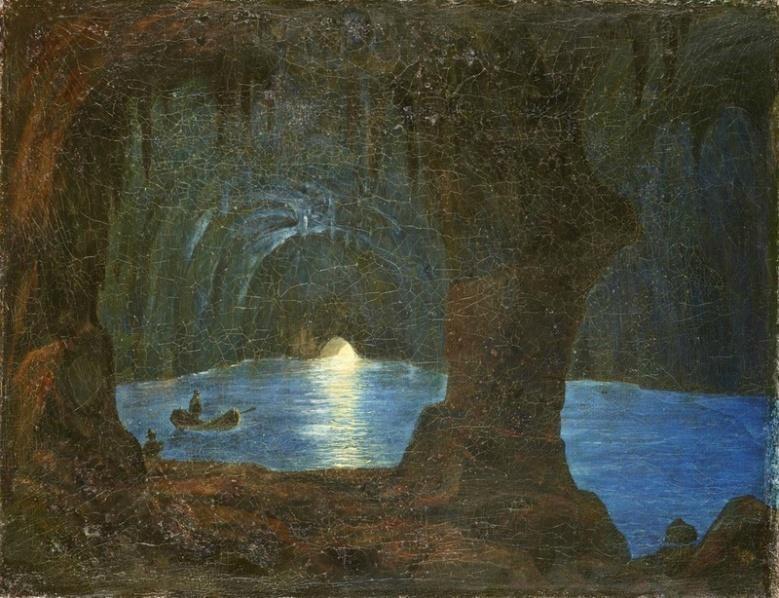 August Kopisch: Blaue Grotte auf Capri, 1834. Quelle: SPSG