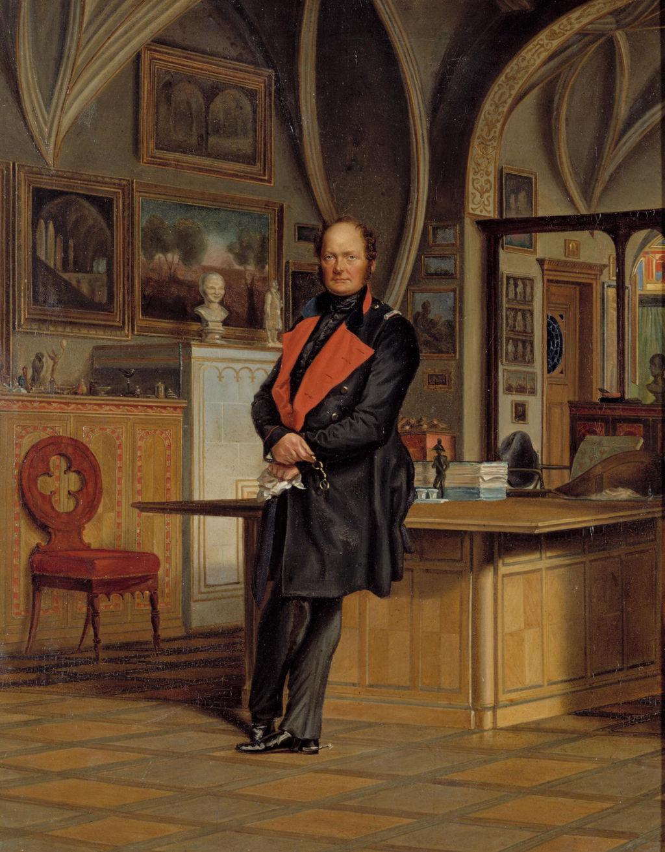 Franz Krüger: Friedrich Wilhelm IV. in seinem Arbeitszimmer, 1846. Quelle: SPSG