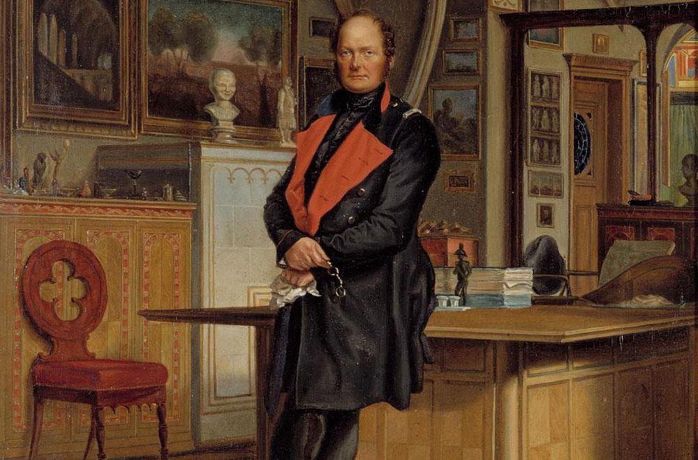 Franz Krüger: Friedrich Wilhelm IV. in seinem Arbeitszimmer, 1846 (Ausschnitt). Quelle: SPSG